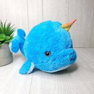 "Blue Narwhal Unicorn of The Sea 11"" Plush Toy NWT"